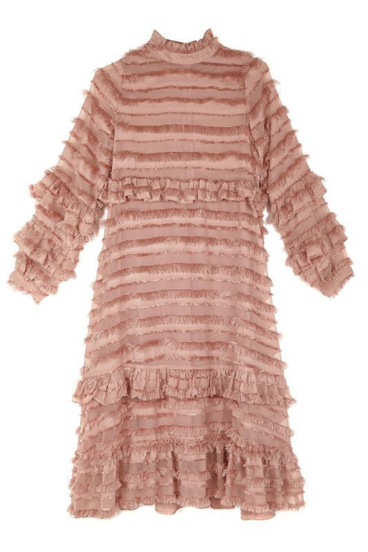 画像1: 【SISTER JANE】Ruler Ruffle Midi Dress /ラッフルミディドレス[Rose Quartz] (1)
