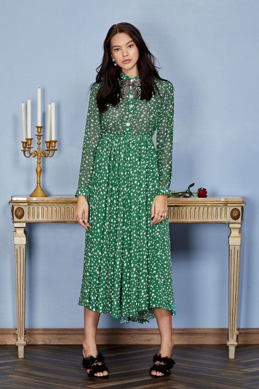 画像1: ★40%OFF★【SISTER JANE】Star Charm Midi Dress /スタープリントミディドレス[Green] (1)