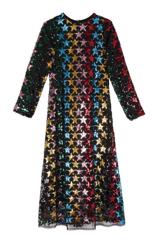 画像1: 【SISTER JANE】Shooting Star Sequin Dress /スパンコールワンピース[Black/Multi] (1)