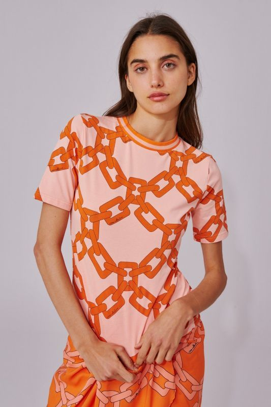 画像1: 【C/MEO COLLECTIVE 】RECOMMEND T-SHIRT / チェーンプリントTシャツ [CORAL CHAIN] (1)