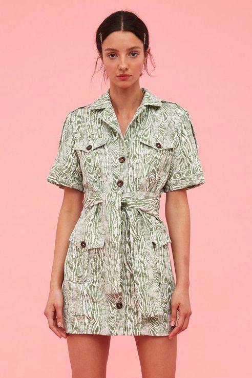 画像1: 【C/MEO COLLECTIVE 】ENERGISED DRESS/サファリミニドレス [Ivy Woodgrain] (1)