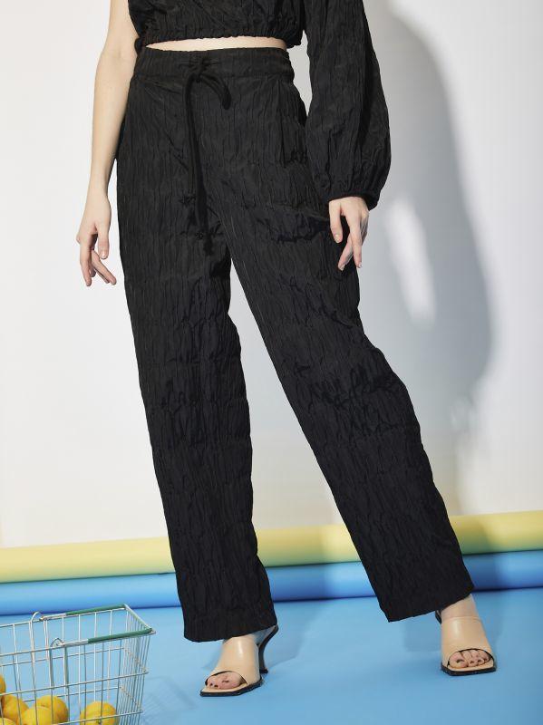 画像1: 【GHOSPELL】Crate Drawstring Trousers / ドローストリングトラウザーパンツ [Black] (1)