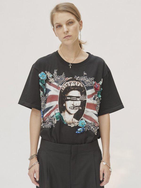 画像1: 【DRYCLEANONLY】BOBBY T-SHIRT /刺繍入りSex Pistols Tシャツ [Black] (1)