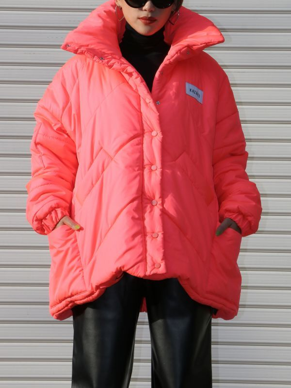 画像1: ★50%OFF★【KAZAKI】Oversized Down Jacket /オーバーサイズダウンジャケット[Neon Orange] (1)