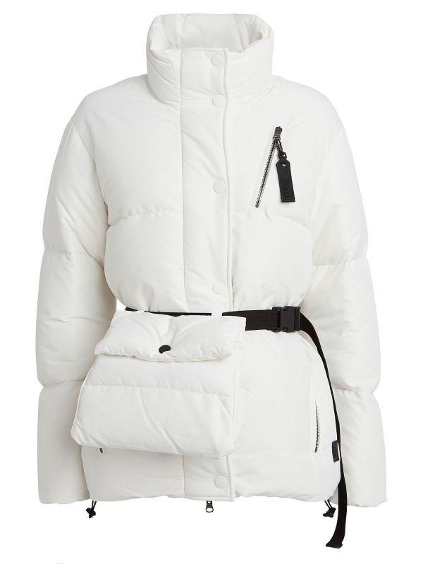 画像1: 【BACON】NEW BOO ウエストバッグ付きダウンジャケット[White] (1)