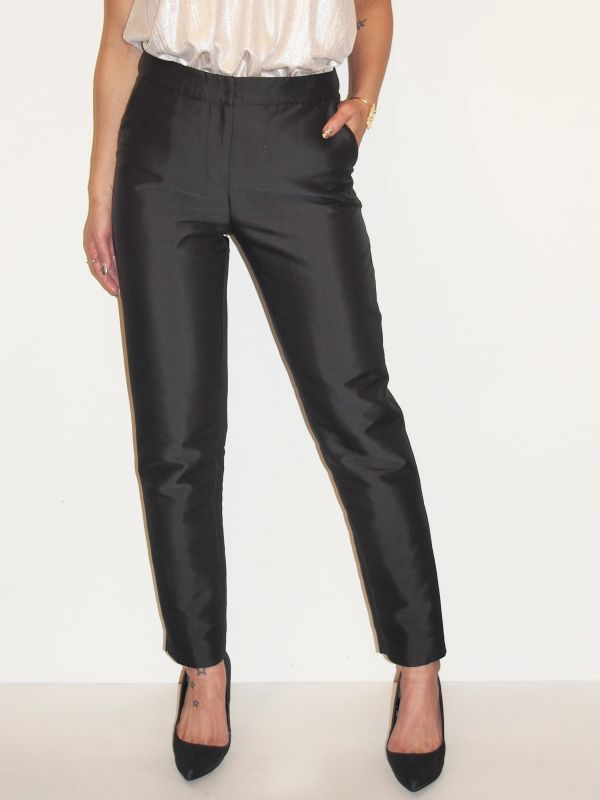 画像1: ★60%OFF★【BLAQUE LABEL 】Dushess Satin Pants / サテントラウザーパンツ[Black] (1)