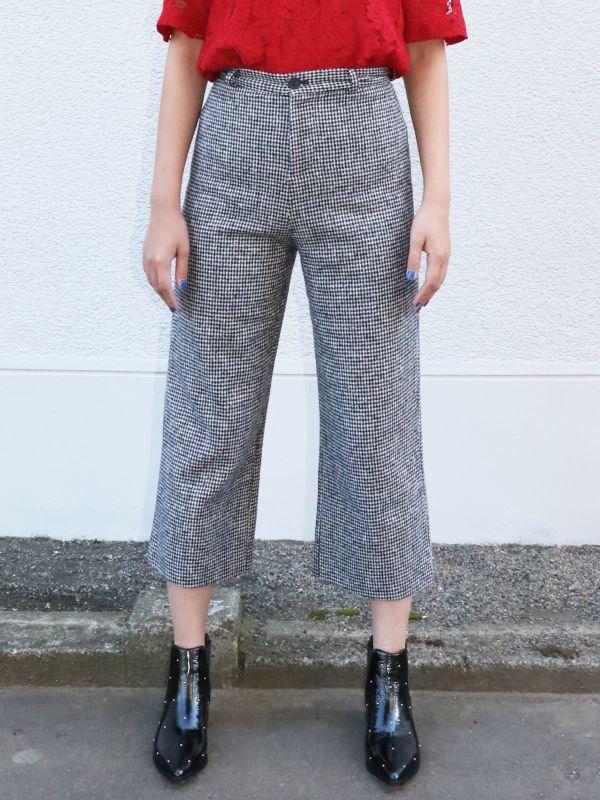 画像1: ★60%OFF★【CAARA】Just A Touch More Cropped Pants / 千鳥格子ミディパンツ (1)