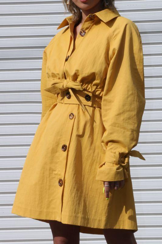 画像1: 【C/MEO COLLECTIVE 】PROPHETIC DRESS/ダブルレイヤードミニドレス・コート [Honey] (1)