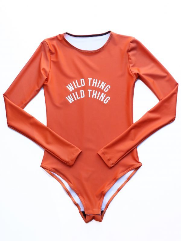 画像1: ★60%OFF★【CHRLDR / チアリーダー】Wild Thing L/S Bodysuit [Burnt Orange] (1)