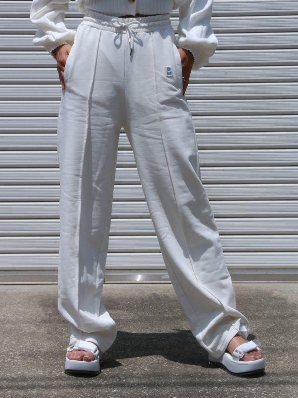 画像1: ★30%OFF★【DAMSON MADDER】Straight Leg Drawstring Joggers/ストレートレッグジョガースウェットパンツ[White] (1)