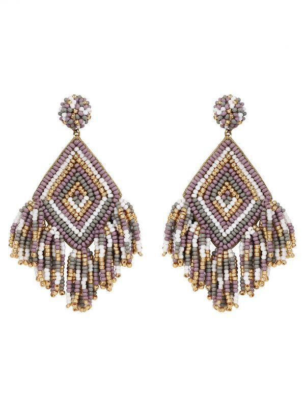 画像1: ★30%OFF★【DEEPA GURNANI】Dottie Earring[Purple Multi] (1)