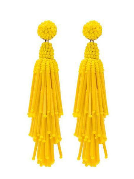 画像1: 【DEEPA GURNANI】Rain Earring[Yellow] (1)