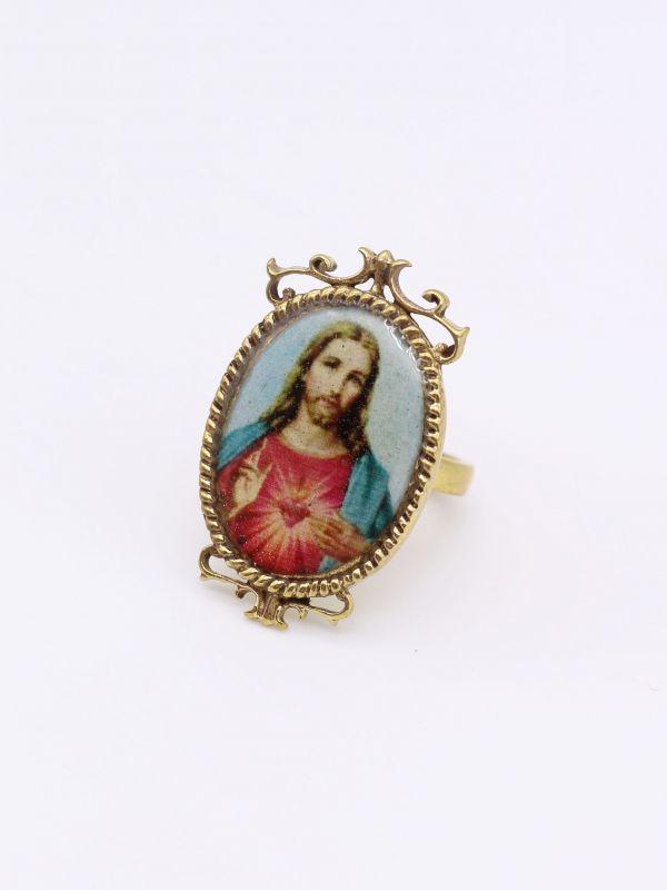 画像1: ★30%OFF★【DEFY JEWELRY】Jesus Christ Ring (1)