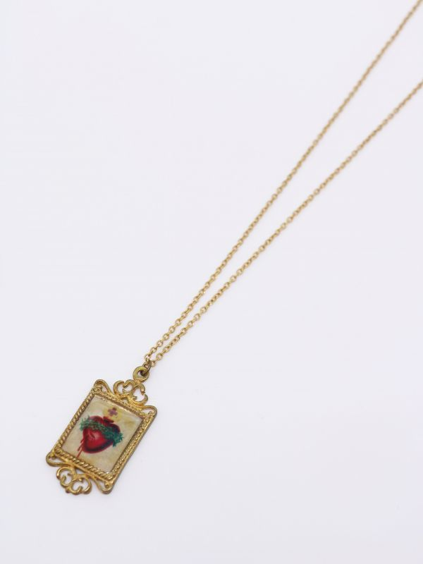 画像1: 【DEFY JEWELRY】The Sacred Heart Necklace (1)