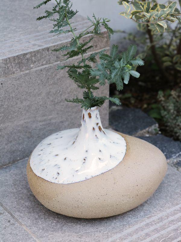 画像1: Stone Ware Vase (1)