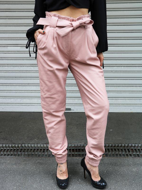 画像1: ★60%OFF★【JUST FEMALE / ジャストフィーメール】New Sago Trousers / レザートラウザーパンツ[Pale Mauve] (1)