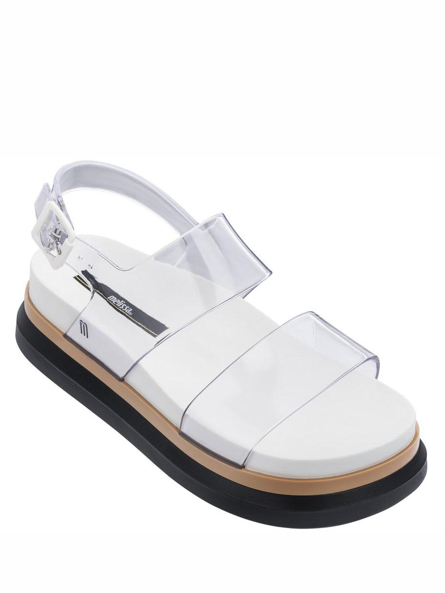 画像1: 【melissa】Cosmic Sandal / PVC フラットソールサンダル [Clear] (1)