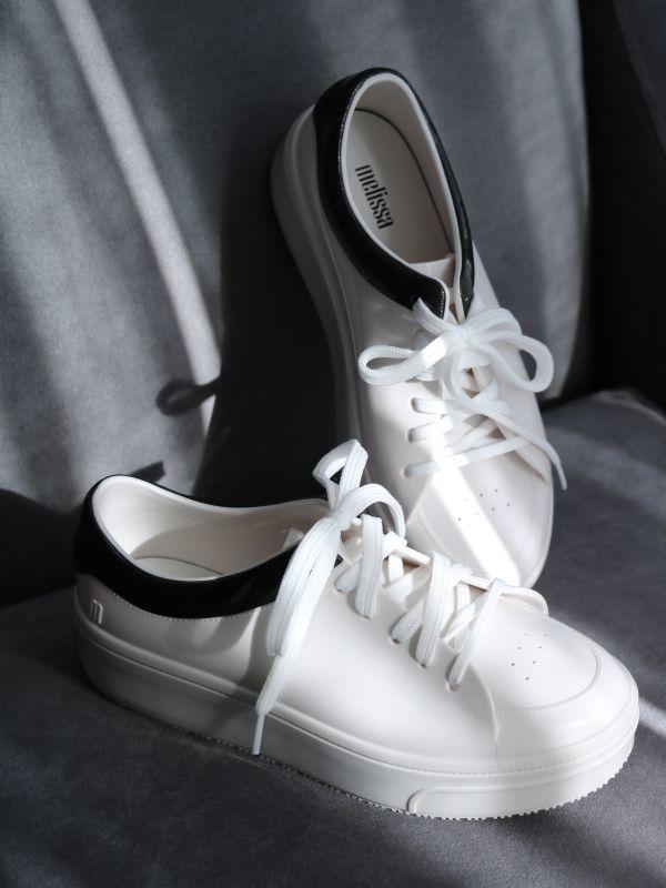 画像1: 【melissa】Melissa Mellow / PVCスニーカー[White x Black] (1)