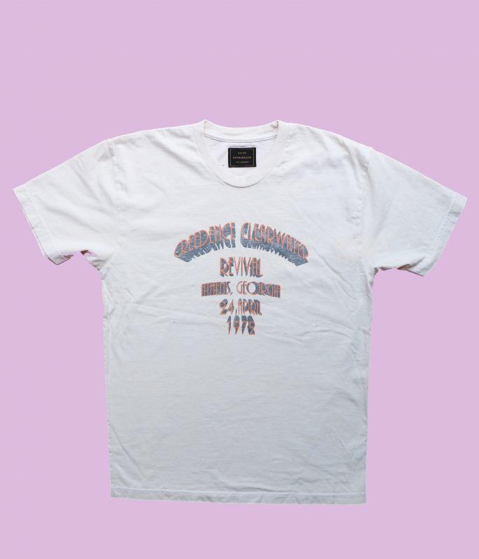 画像1: ★50%OFF★【Retro Brand】Creedence Clear Water Revival Tシャツ [Ash White] (1)