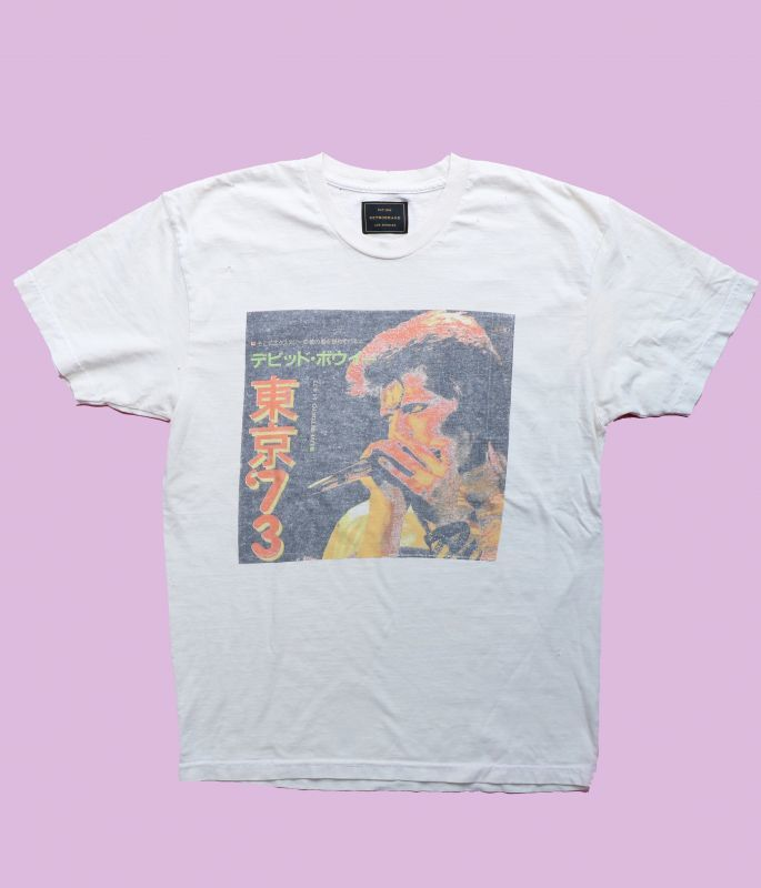 画像1: ★30%OFF★【Retro Brand】David Bowie 東京Tシャツ [Ash White] (1)