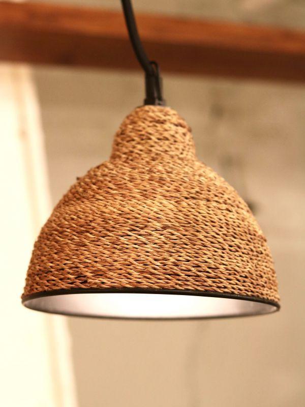 画像1: ★50%OFF★Round Rope Pendant Lamp / ジュートペンダントランプ[ L ] (1)