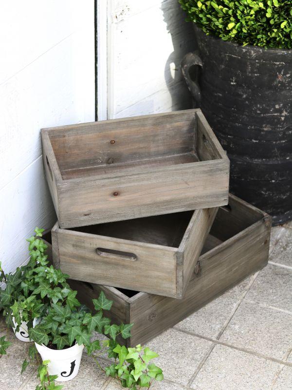 画像1: ★40%OFF★3set Wood Box / 3セットウッドボックス (1)