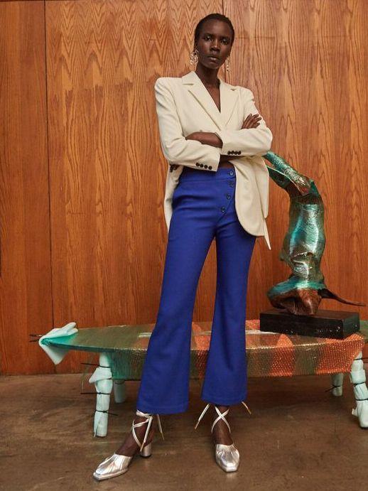 画像1: 【STYLE MAFIA】Adina Pants / フレアーパンツ [Cobalt Blue] (1)
