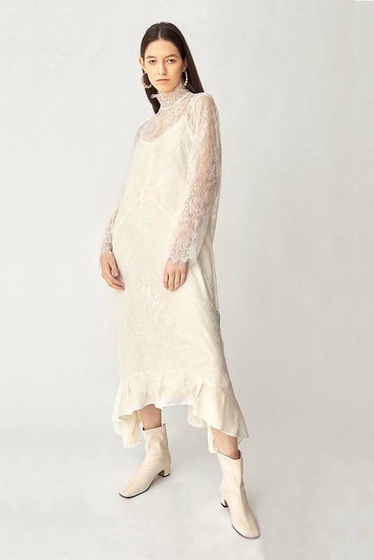 画像1: 【STYLE MAFIA】Vuo Dress / 総レースシースルードレス[Black、White] (1)
