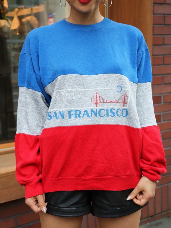 画像1: 【VINTAGE】Sanfrancisco Sweat Shirt [トリコロール] (1)
