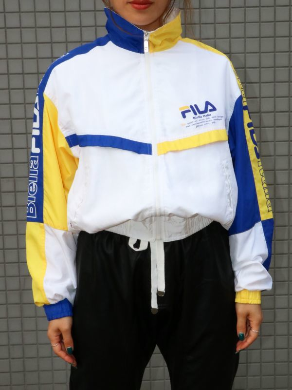 画像1: ★30%OFF★【Vintage】90'S FILA  Nylon Jacket /  フィラ ナイロンジャケット[Yellow + Blue + White] (1)