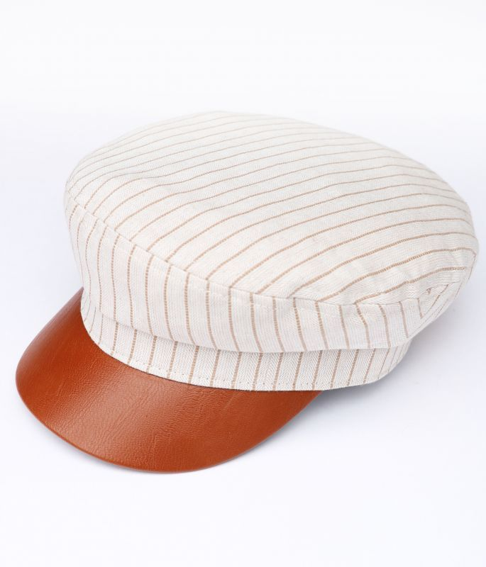 画像1: ★50%OFF★【WYETH】Cheyenne Captain's Cap - Cream Stripe (1)