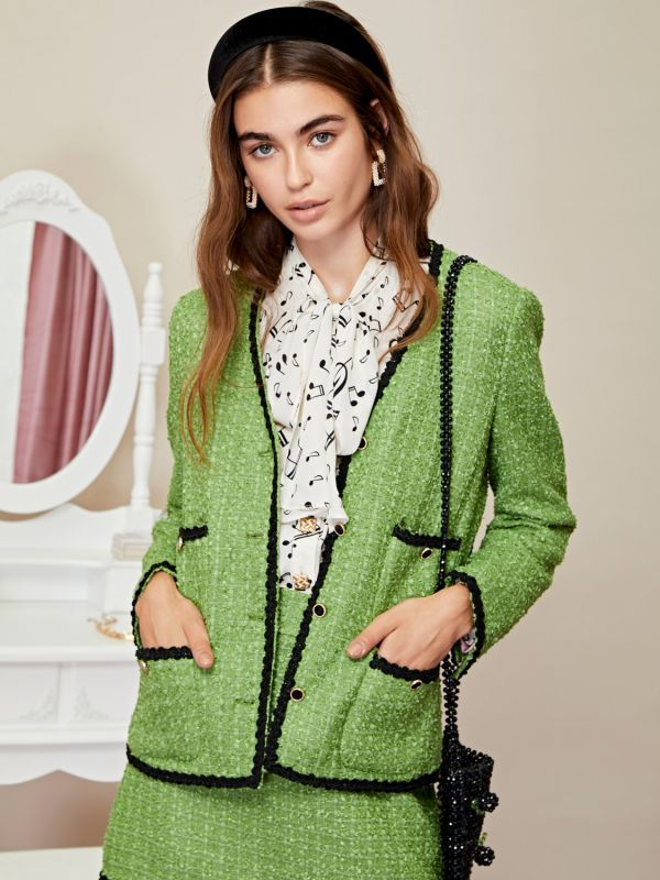 画像1: ★40%OFF★【SISTER JANE】 Pippin Tweed Jacket /ツイードジャケット[Greenery] (1)