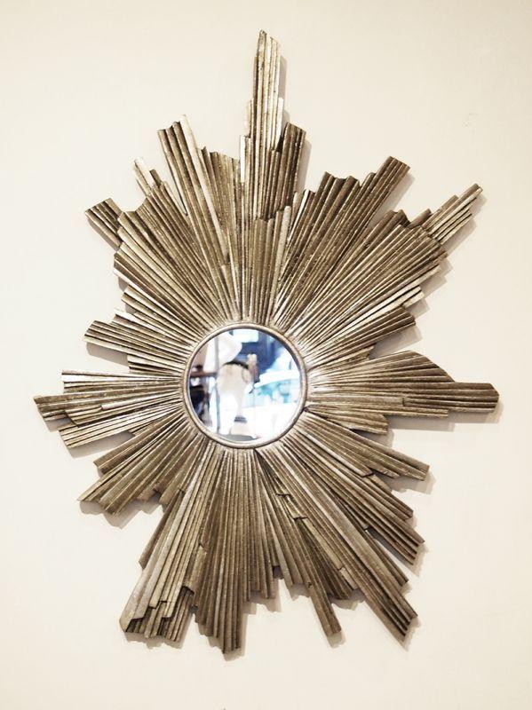 画像1: Sunburst Wall Mirror / サンバースト壁掛けミラー[シルバー] (1)